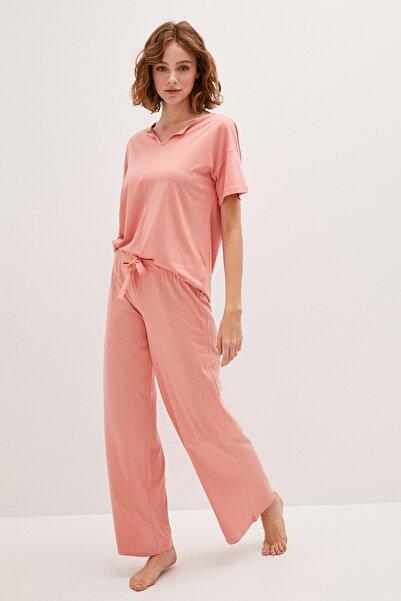 LC Waikiki Kadın Açık Mercan LCW DREAM Pijama Takım
