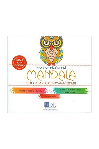 Bulut Yayınları Hayvan Figürleri Mandala Çocuklar Için Boyama Kitabı
