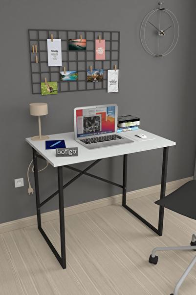 Bofigo 60x90 cm Çalışma Masası Laptop Bilgisayar Masası Ofis Ders Yemek Cocuk Masası Beyaz
