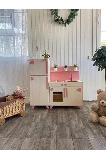 Baby Toyz Ahşap Çocuk Mutfak Oyun Dolabı