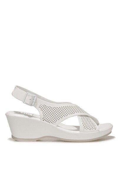 İnci CALVISANO 1FX Beyaz Kadın Dolgu Topuklu Sandalet 101027722