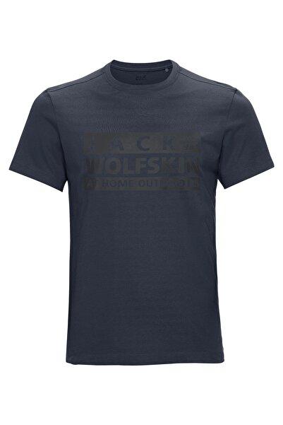 Jack Wolfskin Brand T Erkek Outdoor T-shirt Night Blue