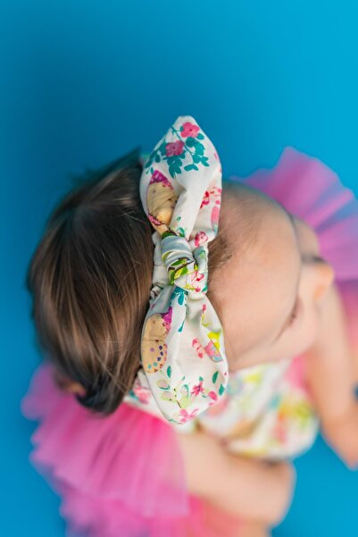 PixyLove Ekru Kız Bebek Bandana Tırtıl Spring