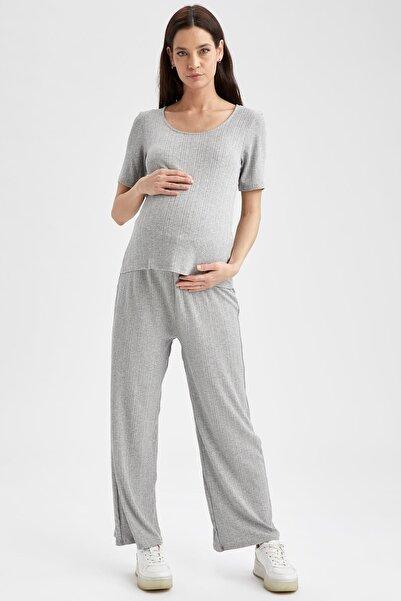 DeFacto Regular Fit Örme Hamile Pantolonu