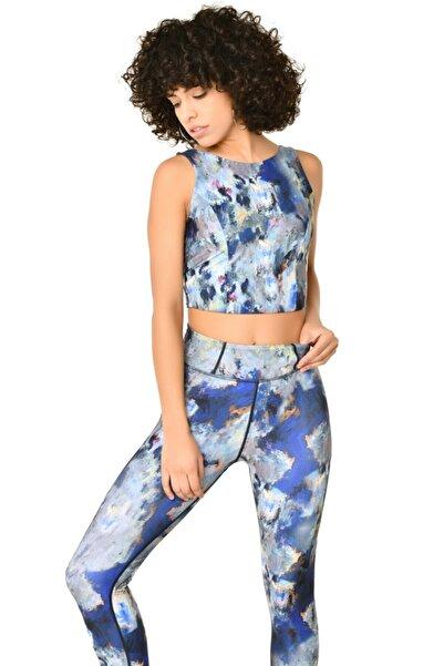 bilcee Renkli Kadın Batik Crop Body Hs-8799