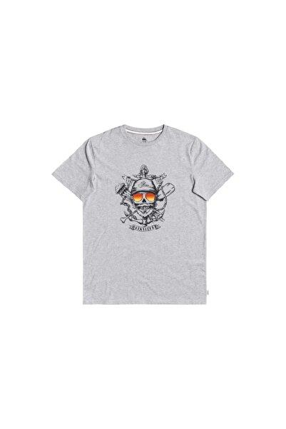 Quiksilver Erkek Gri Made Of Bones Ss T-Shirt
