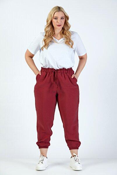 Büyük Moda Baggy Paperbag Pantolon