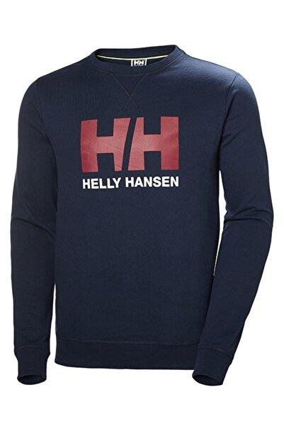 Helly Hansen Erkek Lacivert Logo Crew Sweatshirt