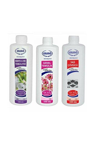 Ersağ Genel Temizlik + Antibakteriyel Banyo Wc+yağ Çöz 3'lü Set X 1000 ml