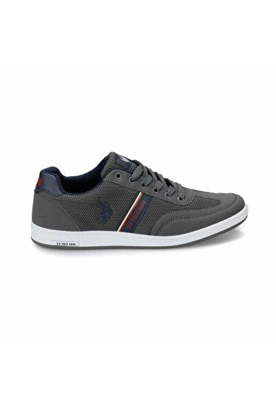 U.S. Polo Assn. Erkek Gri  Kares  Günlük Sneaker