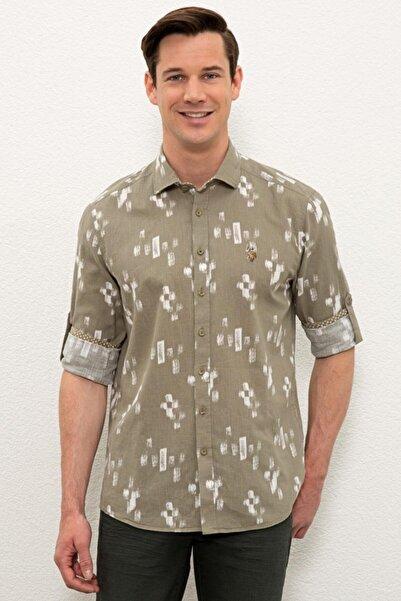 U.S. Polo Assn. U.s. Polo Erkek Regular Fit Gömlek 1227887 Hydra 027 Haki