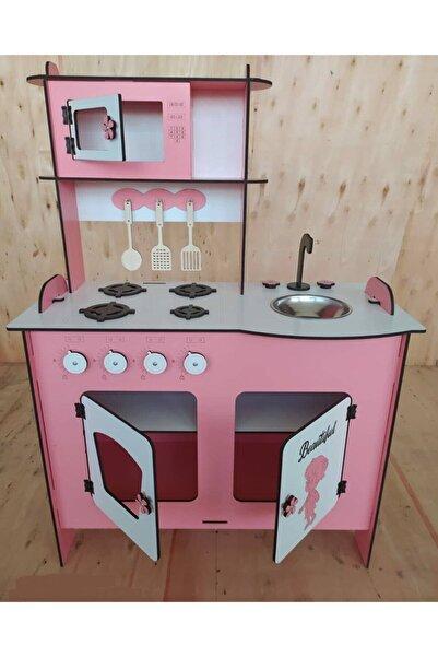 Hobi Evi Çocuk Ahşap Mutfak Oyun Seti Montessori