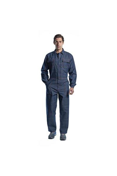 Endüstri Giyim Erkek Lacivert Yazlık Kot Iş Tulumu Boy Tulum Iş Elbisesi