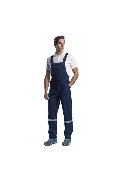Endüstri Giyim Erkek Lacivert Reflektörlü Askılı Bahçıvan Tulum