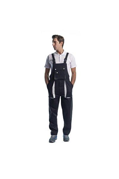 Endüstri Giyim Bahçıvan Tulum Taraftar Askılı Iş Tulum Iş Elbisesi (siyah/beyaz)