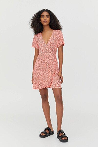 Pull & Bear Desenli Mini Balerin Elbise