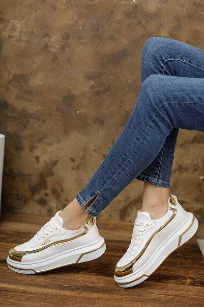 Chekich Ch041 Kadın Ayakkabı Beyaz Altın