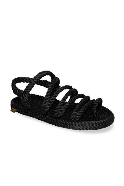 Nomadic Republic Kadın Siyah Havana Halat Sandalet