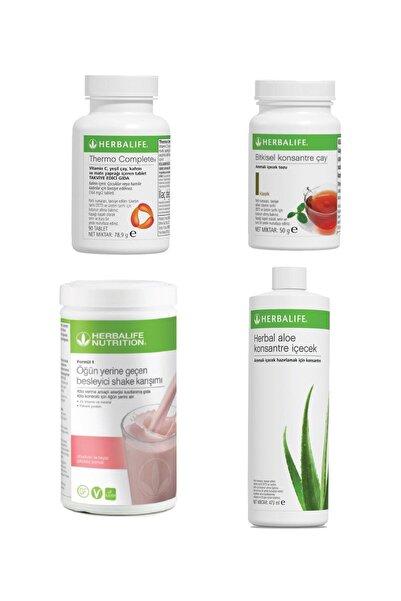 Herbalife Bölgesel Yağ Yakım Ahududulu Shake 550 G+ Klasik Çay 50 gr+ Aloe Vera Içecek + Thermo