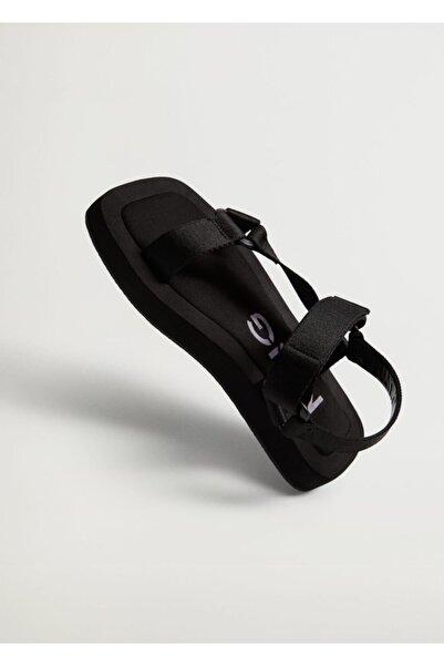 MANGO Woman Platformlu Bantlı Sandalet
