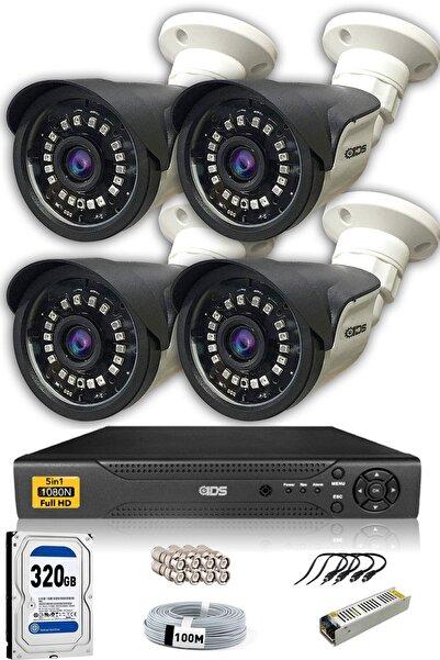 IDS 4 Kameralı Set - 5mp Sony Lensli Full Hd Gece Görüşlü Güvenlik Kamerası Sistemi - Cepten Izle