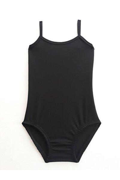 LULLY KİDS Kız Çocuk Siyah Bale Jimnastik Mayosu Body