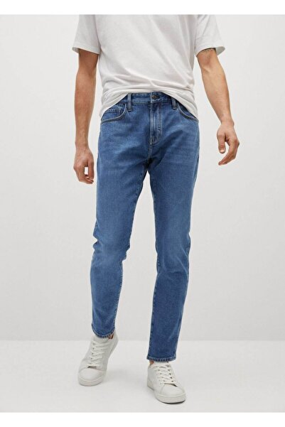 MANGO Man Tapered Kesim Liyosel Tom Jean Pantolon