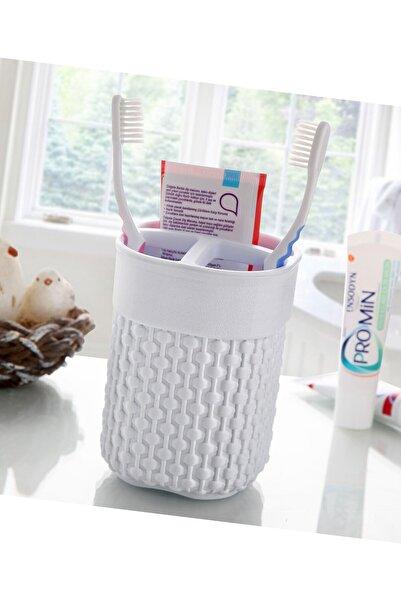 FERHOME Diş Fırçalık 3 Gözlü Diş Fırçası Macunu Saklama Kutusu Diş Fırçalık