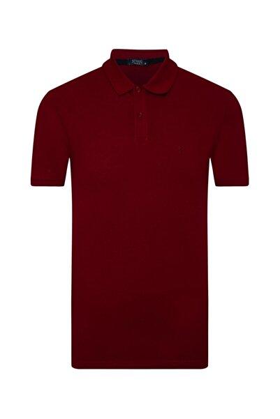 SÜVARİ Erkek Bol Kesim Polo Yaka Bordo Tişört
