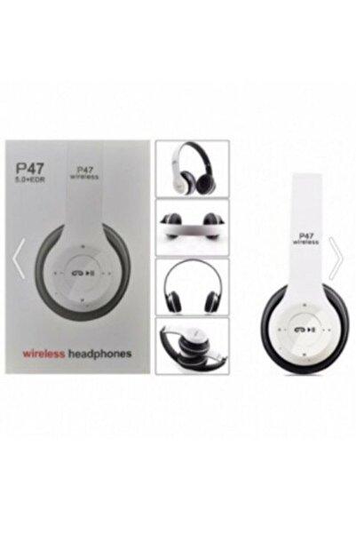 POLYGOLD Bluetooth Kulaklık Mp3 Fm Solo 2 Beats Model Kulaküstü - P47 Beyaz