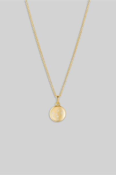 So CHIC... Şans Küresi 18 Ayar Sarı Altın Kaplama Gümüş Kolye