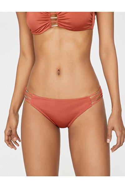 Koton Kadın Kiremit Rengi Düz Bikini Altı 9YAK88704OM
