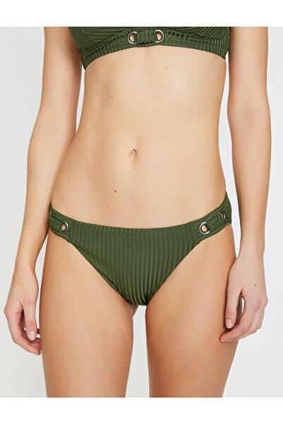 Koton Kadın Yeşil Toka Detaylı Bikini Altı