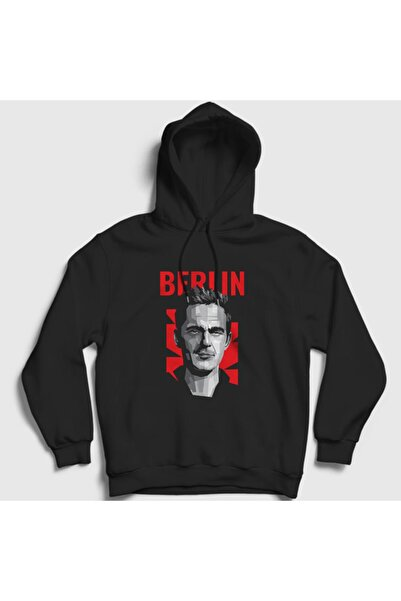 Presmono Unisex Siyah Berlin La Casa De Papel Kapüşonlu Sweatshirt 196597tt