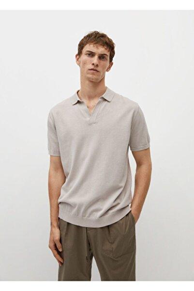 MANGO Man Erkek Premium Pamuklu Örgü Polo T-shırt