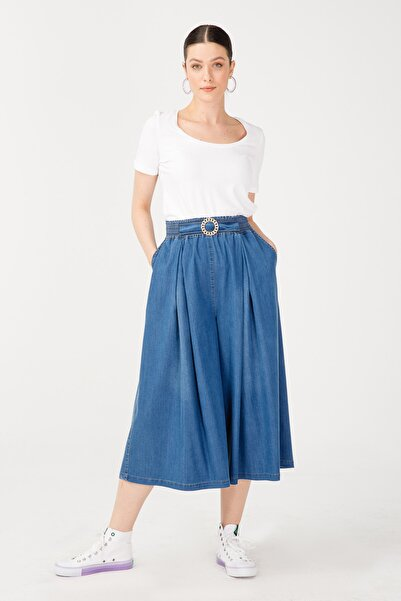 Ekol Bel Tokalı Pantolon Etek