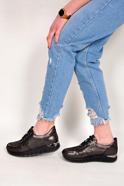 Mammamia Kadın Metalik Bağcıklı Sneaker 3270 21y