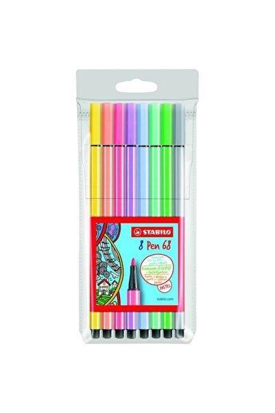 Stabilo Pen 68 8 Pastel Renk Set N:688-01 /