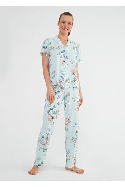 SUWEN Linda Maskulen Pijama Takımı