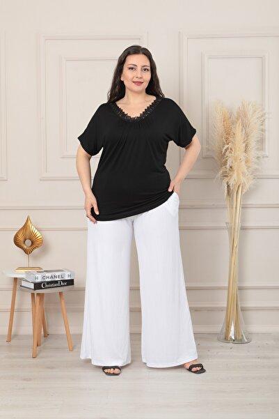 XL Modam Kadın Büyük Beden Yüksek Bel Micro Kumaş Pantolon