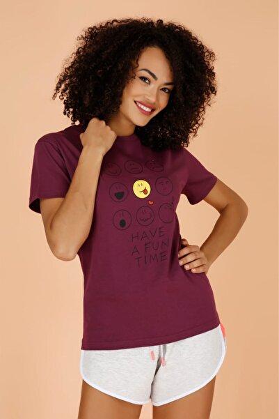 Masorte Have A Fun Time Baskılı Mor T-shirt