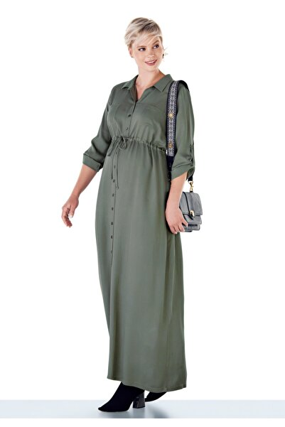 Ebru Maternity Kadın Uzun Hamile Elbisesi
