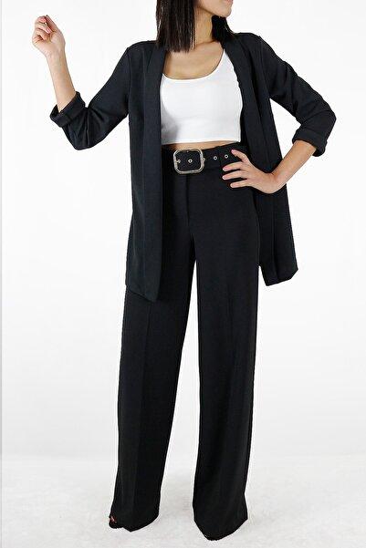 SAR BUTİK 1.kalite Krep Kumaş Yüksek Bel Kemerli Boru Paça Pantolon