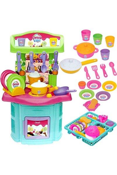 DEDE Kız Çocuk Bulaşıklık Büyük Boy Mutfak Seti
