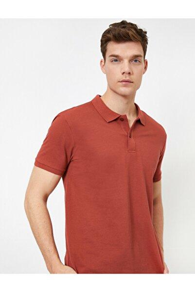 Koton Erkek Kiremit Polo Yaka T-Shirt 0YAM12133LK