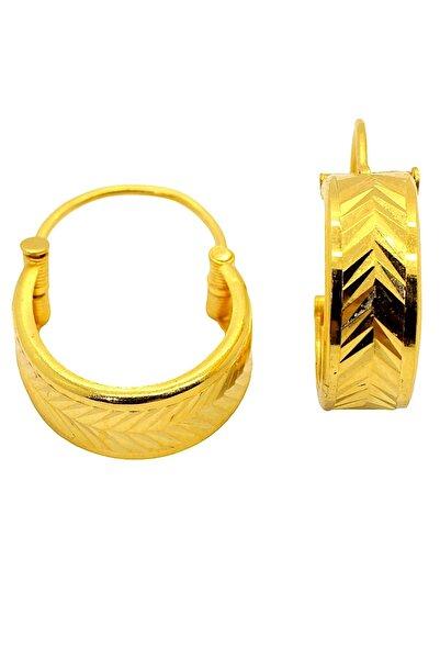 CiGOLD 22 Ayar Altın Taşsız Fantezi Küpe K2küp0273025848