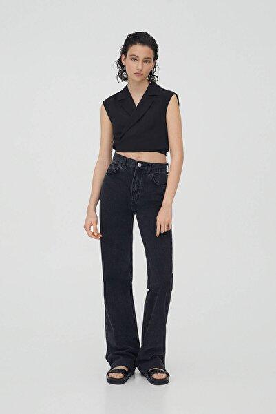 Pull & Bear Kadın Yüksek Bel Straight Fit Jean