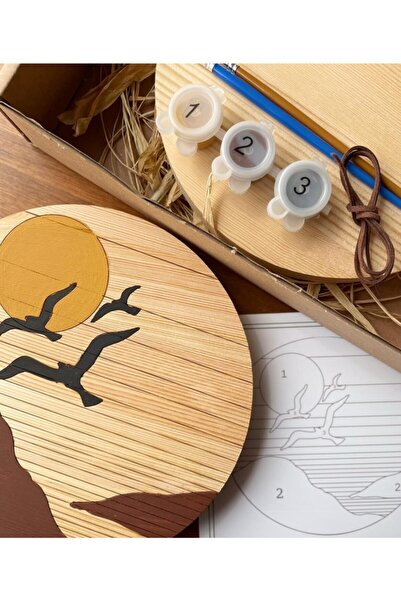 OSA Tutiwood Doğal Ahşap Boyama Kiti - Kuş Desenli Birds