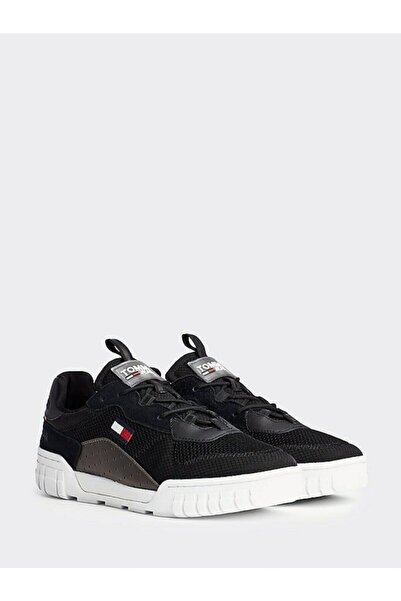 Tommy Hilfiger Erkek Siyah Sneaker Retro Mesh Sneaker EM0EM00398
