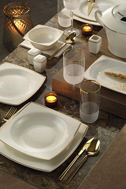 Kütahya Porselen Altın Bone Mare 62 Parça Yemek Takımı 10743